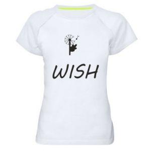 Damska koszulka sportowa Wish