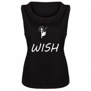 Damska koszulka bez rękawów Wish