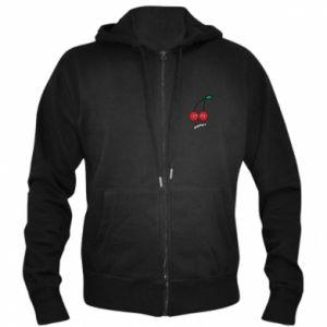Men's zip up hoodie Cherry lovers - PrintSalon