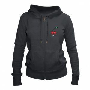 Women's zip up hoodies Cherry lovers - PrintSalon