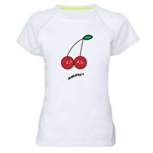 Women's sports t-shirt Cherry lovers - PrintSalon