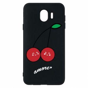 Phone case for Samsung J4 Cherry lovers - PrintSalon