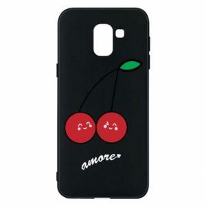 Phone case for Samsung J6 Cherry lovers - PrintSalon