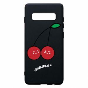 Phone case for Samsung S10+ Cherry lovers - PrintSalon