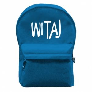 Backpack with front pocket Witaj