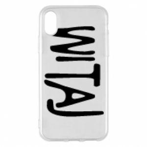 Phone case for iPhone X/Xs Witaj