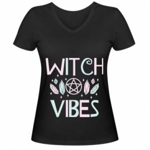 Damska koszulka V-neck Witch vibes