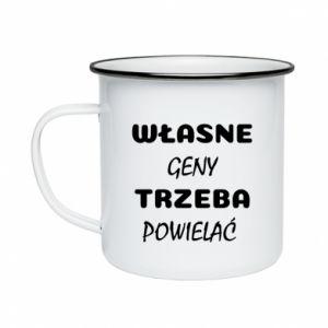 Enameled mug Own genes must be reproduced - PrintSalon