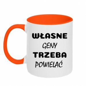 Two-toned mug Own genes must be reproduced - PrintSalon