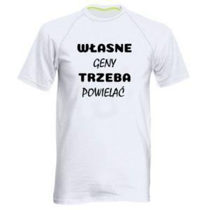 Men's sports t-shirt Own genes must be reproduced - PrintSalon