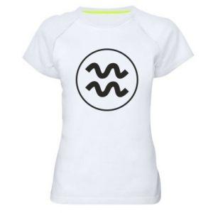 Women's sports t-shirt Aquarius