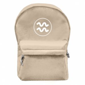Backpack with front pocket Aquarius
