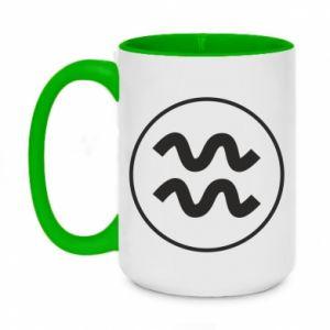 Two-toned mug 450ml Aquarius