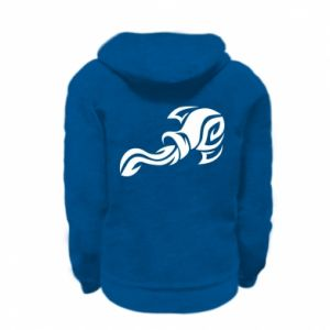 Kid's zipped hoodie % print% Aquarius