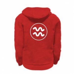 Kid's zipped hoodie % print% Aquarius