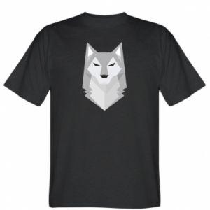 T-shirt Wolf graphics minimalism - PrintSalon