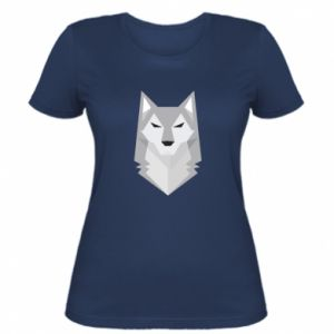Women's t-shirt Wolf graphics minimalism - PrintSalon