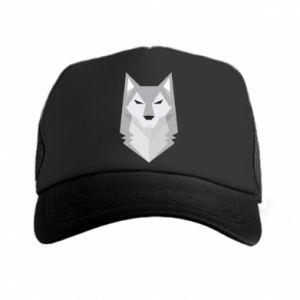 Trucker hat Wolf graphics minimalism - PrintSalon