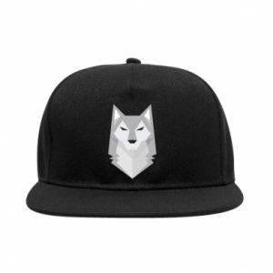 SnapBack Wolf graphics minimalism - PrintSalon