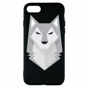 Etui na iPhone SE 2020 Wolf graphics minimalism
