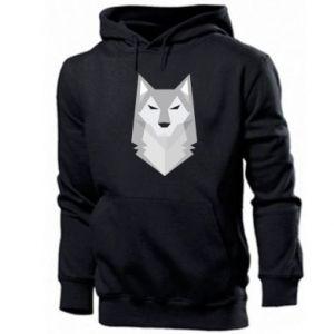 Men's hoodie Wolf graphics minimalism - PrintSalon