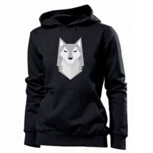 Women's hoodies Wolf graphics minimalism - PrintSalon