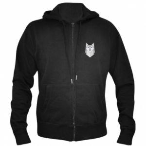 Men's zip up hoodie Wolf graphics minimalism - PrintSalon