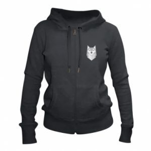 Women's zip up hoodies Wolf graphics minimalism - PrintSalon