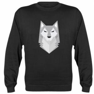 Sweatshirt Wolf graphics minimalism - PrintSalon