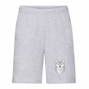 Men's shorts Wolf graphics minimalism - PrintSalon