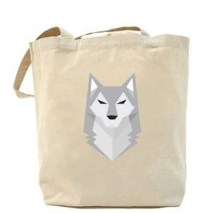 Bag Wolf graphics minimalism - PrintSalon