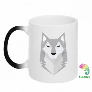 Kubek-kameleon Wolf graphics minimalism