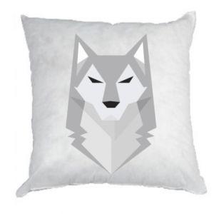 Pillow Wolf graphics minimalism - PrintSalon