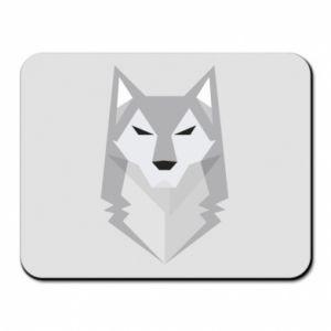 Mouse pad Wolf graphics minimalism - PrintSalon