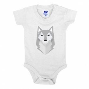 Baby bodysuit Wolf graphics minimalism - PrintSalon