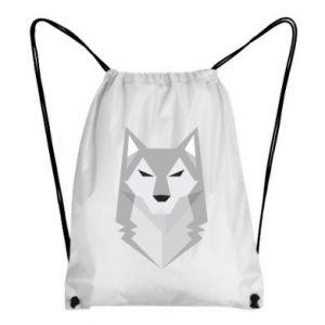 Backpack-bag Wolf graphics minimalism - PrintSalon