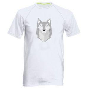 Men's sports t-shirt Wolf graphics minimalism - PrintSalon