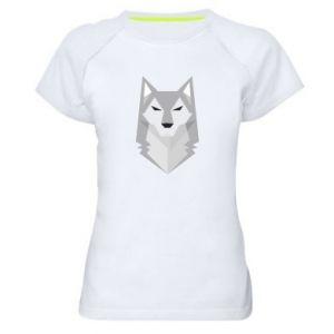 Women's sports t-shirt Wolf graphics minimalism - PrintSalon