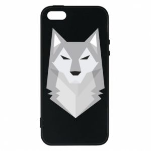 Etui na iPhone 5/5S/SE Wolf graphics minimalism