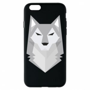 Etui na iPhone 6/6S Wolf graphics minimalism