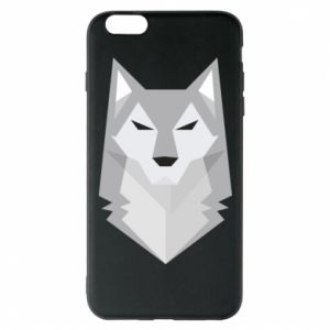 Etui na iPhone 6 Plus/6S Plus Wolf graphics minimalism