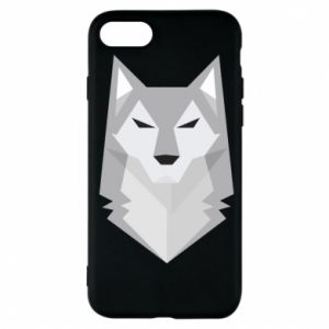 Etui na iPhone 7 Wolf graphics minimalism
