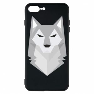 Etui na iPhone 7 Plus Wolf graphics minimalism