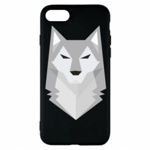 Etui na iPhone 8 Wolf graphics minimalism