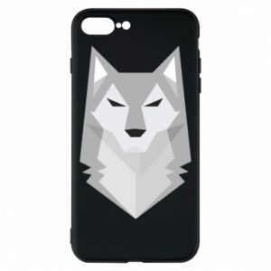 Etui na iPhone 8 Plus Wolf graphics minimalism