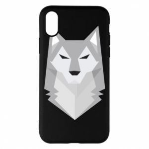 Etui na iPhone X/Xs Wolf graphics minimalism