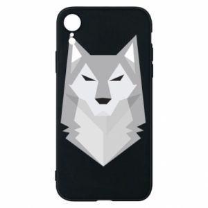 Etui na iPhone XR Wolf graphics minimalism