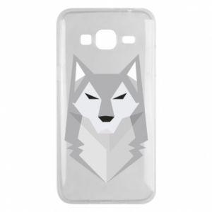 Phone case for Samsung J3 2016 Wolf graphics minimalism - PrintSalon