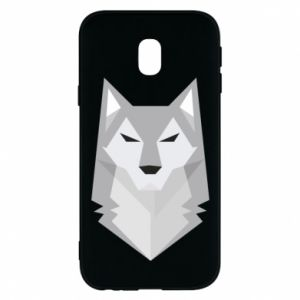 Phone case for Samsung J3 2017 Wolf graphics minimalism - PrintSalon