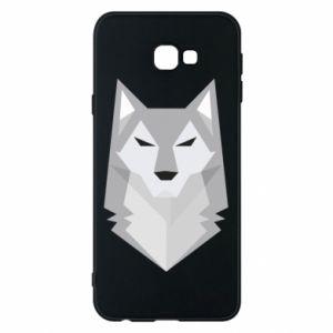 Phone case for Samsung J4 Plus 2018 Wolf graphics minimalism - PrintSalon